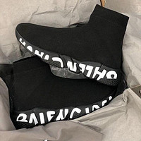 Balenciaga Hot Sale Color Block Knitted High Top Socks Shoes Sneakers