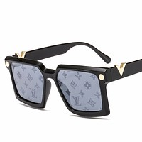 LV street fashion men and women models large frame driving polarized sunglasses #5