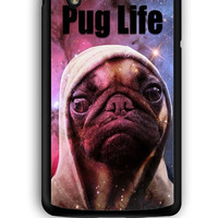 Google Nexus 5 Case - Hard (PC) Cover with Funny Pug Life On Galaxy Plastic Case Design