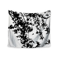 """Ingrid Beddoes """"Black on White"""" Wall Tapestry"""