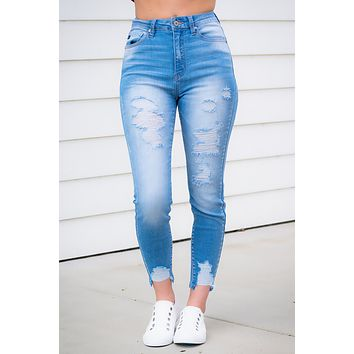 Zoey Distressed KanCan Jeans