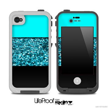 Three-Toned Turquoise Sparkle Skin for the iPhone 5 or 4/4s LifeProof Case