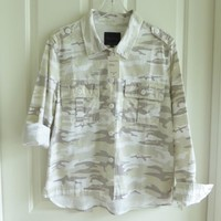 NWT Sanctuary neutral camo Shacket, jacket shirt in ripstop material S, M & XL
