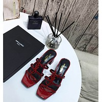 ysl women casual shoes boots fashionable casual leather women heels sandal shoes 1