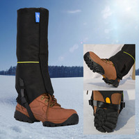 Outdoor Waterproof  Nylon Gaiters Crampons Leg Protection Guard Shoes Spike Cleats For Ski Skiing Hiking Climbing Travel Kits
