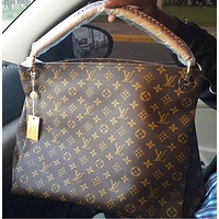 LV Fashion Single Shoulder Bag for Women's Printed Shopping Bags