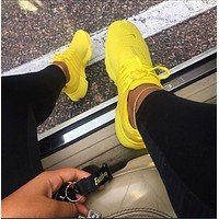 """NIKE""Air Presto Women Men Fashion Running Sport Casual Shoes Sneakers yellow Shoes"
