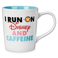 Disney Mickey Mouse I Run On Disney and Caffeine Donut Mug New