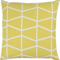 Somerset Throw Pillow Yellow, Neutral