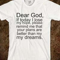 dear god - glamfoxx.com - Skreened T-shirts, Organic Shirts, Hoodies, Kids Tees, Baby One-Pieces and Tote Bags