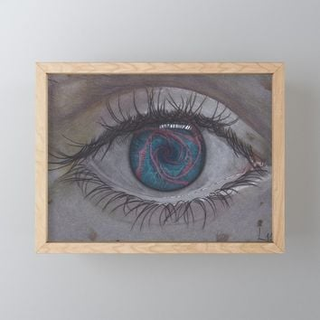 Eye 1# Rose Framed Mini Art Print by drawingsbylam