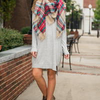 Longing For Love Sweater Dress, Heather Gray