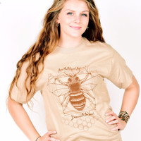 Beeonardo da Vinci , Bee Progressive Short Sleeve T-Shirt, Honey Bee Tee Shirt, Leonardo da Vinci
