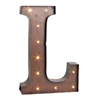 Letter ''l'' LED Lighted Wall Decor (Brown)
