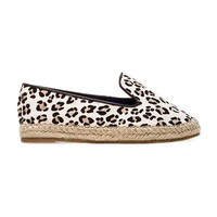Jeffrey Campbell Abides-F Flat with Calf Fur in White