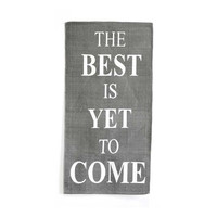 The Best Is Yet To Come Area Rug - 56-in x 27-in