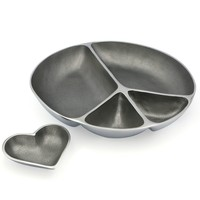 Peace Sign Serving Platter With Heart Bowl