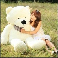 Qiyun 47` White color 1.2M Giant Huge Cuddly Stuffed Animals Plush Teddy Bear Toy Doll