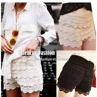 Brand New celebrity inspired Crochet Lace Cute Casual Shorts