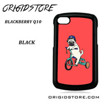 Pug Bicycle For Blackberry Q10 Case UY