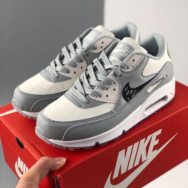 Image of Dior x Nike Air Max 90 Cushioning Sneakers Shoes
