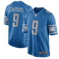 Youth Detroit Lions Matthew Stafford Nike Blue 2017 Game Jersey