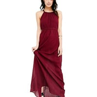 Backless Strappy High Waist Maxi Dress