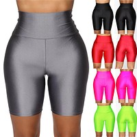 Women Cycling Shorts Dancing Gym Biker Slim Active Sports Solid Sexy Skinny 2019 New Summer Shorts Basic Stretch Short Trousers