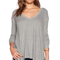Free People Sunset Park Top in Gray