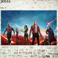 Guardians of the Galaxy Movie Poster Marvel Pictures Heroes Wall Art Prints Bedroom Office Home Decoration Fabric Artwork