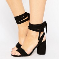 ASOS HOLDING ON Wide Fit Tie Leg Sandals at asos.com