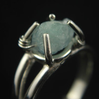 Rough Aquamarine Ring - Sterling Silver - Irregular Shape Aquamarine - Raw Aquamarine Stone Ring - March Birthstone