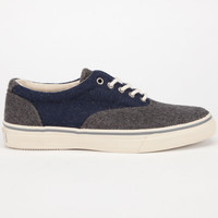 Sperry Top-Sider Wool Striper Cvo Mens Shoes Grey/Navy  In Sizes