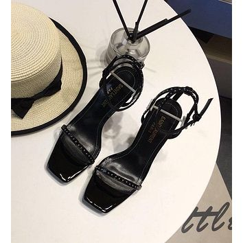 ysl women casual shoes boots fashionable casual leather women heels sandal shoes 24