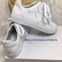 Balenciaga Women's Monogram Leather Casual Sneakers Shoes