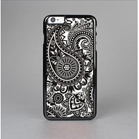 The Black & White Paisley Pattern V1 Skin-Sert for the Apple iPhone 6 Plus Skin-Sert Case