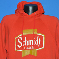 80s Schmidt Beer Hooded Sweatshirt Large