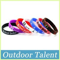 7pcs/lot Baskteball Superstar Jordan Silicone Bracelet Basketball Bracelet Silicone Wr