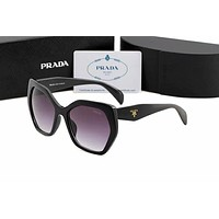 PRADA New Popular Women Summer Style Sun Shades Eyeglasses Glasses Sunglasses Black I-AJIN-BCYJSH