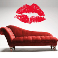 Lip Decal - Wall Decal - Red Lips
