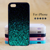 Sparking Blue Glitter(Not Actual Glitter),iPhone 5 case,iPhone 5C Case,iPhone 5S Case, Phone case,iPhone 4 Case, iPhone 4S Case,Case