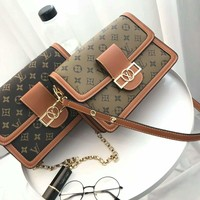 LV  Women Fashion Leather Satchel Shoulder Bag Handbag Crossbody With Box