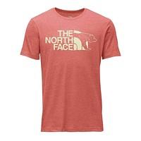 Men's TNF Mascot Tri-Blend Tee in Bossa Nova Red Heather by The North Face