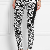 Nike - Leg-A-See printed stretch cotton-blend jersey leggings
