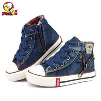 2018 Canvas Children Shoes Sport Breathable Boys Sneakers Brand Kids Shoes for Girls Jeans Denim Casual Child Flat Boots 25-37