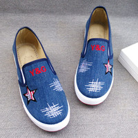 Simple Fashion Star Print Canvas Sneakers