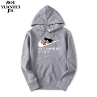 Men's Animation Dragon Ball Z Wukong Hoodie Men's Autumn Winter Harajuku Sportswear Men's Casual Wear Apparel Large 2XL