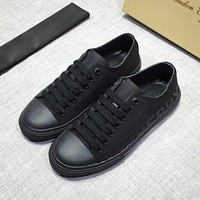 Burberry  Men Fashion Boots fashionable Casual leather Breathable Sneakers Running Shoes