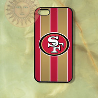 San Francisco 49er Football Team -iPhone 5, 5s, 5c, 4s, 4 case,Ipod touch 5, Samsung GS3, GS4 Rubber or Hard Plastic Case, Phone cover