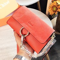 Chloe Hot Sale Fashion Women Leather Crossbody Satchel Shoulder Bag Orange Red